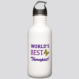 World's Best Therapist (Butterfly) Stainless Water