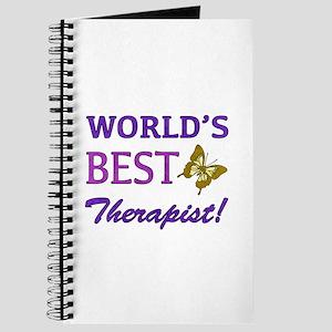 World's Best Therapist (Butterfly) Journal
