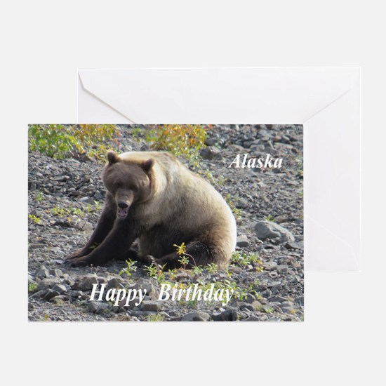 Grizzly Bear Alaska Greeting Cards