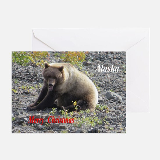 Grizzly Bear Christmas Greeting Cards