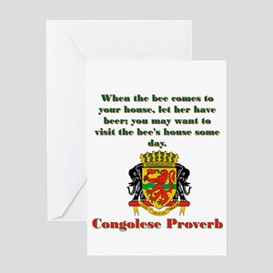 When The Bee Comes - Congolese Proverb Greeting Ca