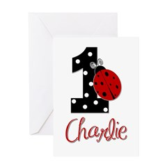 1 Ladybug CHARLIE - Custom Greeting Cards