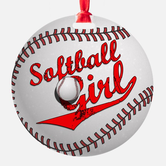 Softball Girl Ornament