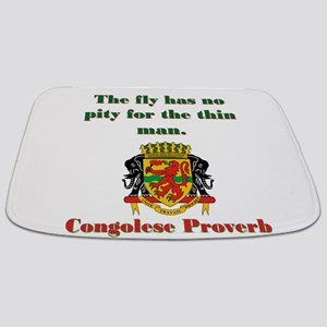 The Fly Has No Pity - Congolese Proverb Bathmat
