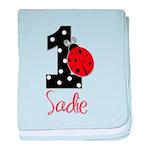 1 Ladybug SADIE - Custom baby blanket