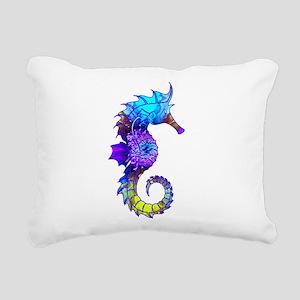 Sigmund Seahorse Rectangular Canvas Pillow