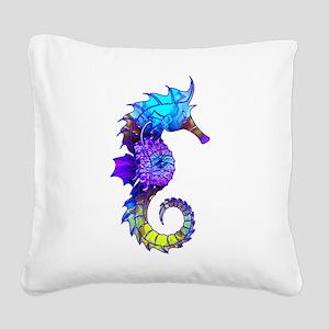 Sigmund Seahorse Square Canvas Pillow