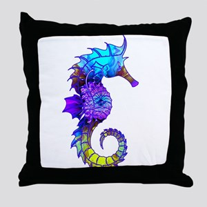 Sigmund Seahorse Throw Pillow