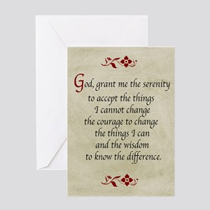 Courage greeting cards cafepress serenity prayer vintage greeting cards m4hsunfo