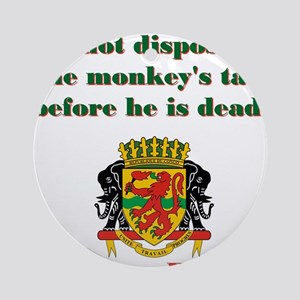 Do Not Dispose - Congolese Proverb Round Ornament