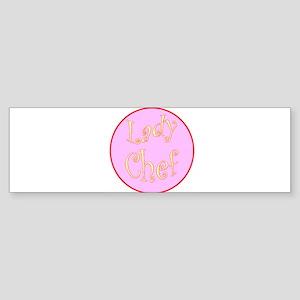 Lady Chef Bumper Sticker