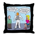 Astronaut 12-Step Show-off Throw Pillow