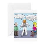 Astronaut 12-Step Show-off Greeting Card