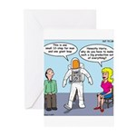 Astronaut 12-Step Show-off Greeting Cards (Pk of 2