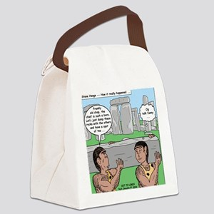 Cavemen at Stonehenge Canvas Lunch Bag