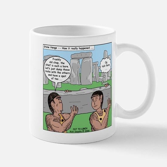 Cavemen at Stonehenge Mug