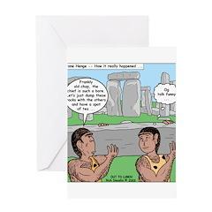 Cavemen at Stonehenge Greeting Card