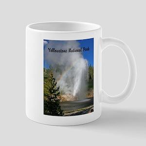 Customizable Riverside Geyser with Rainbow Mugs
