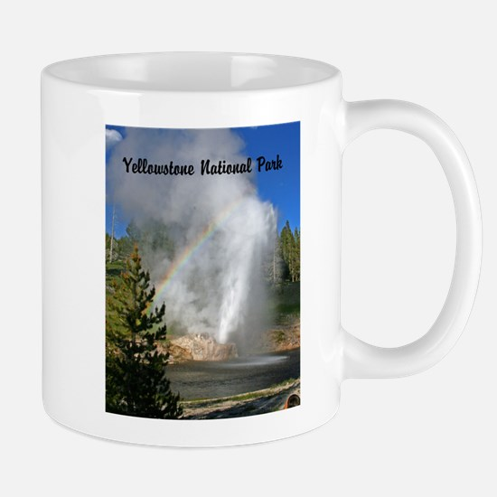Customizable Riverside Geyser with Rainbow Mugs