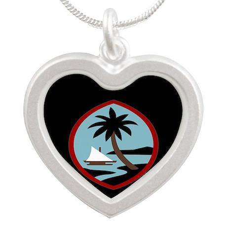 Guam Palm tree and beach peace calm joy 1 Necklace