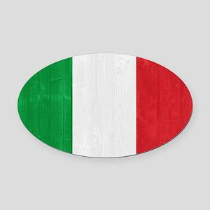 Italy flag Oval Car Magnet
