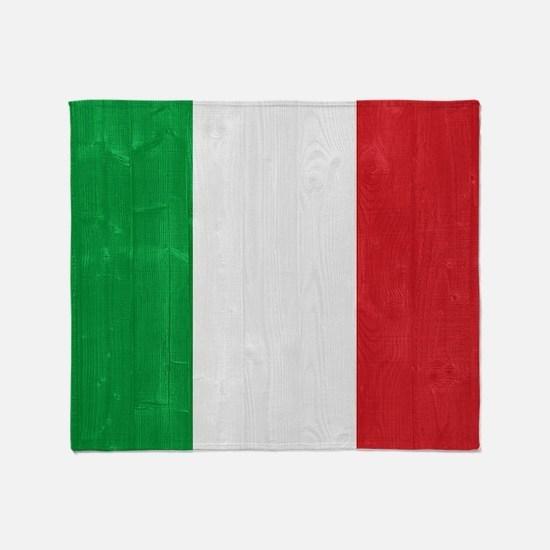 Italy flag Throw Blanket