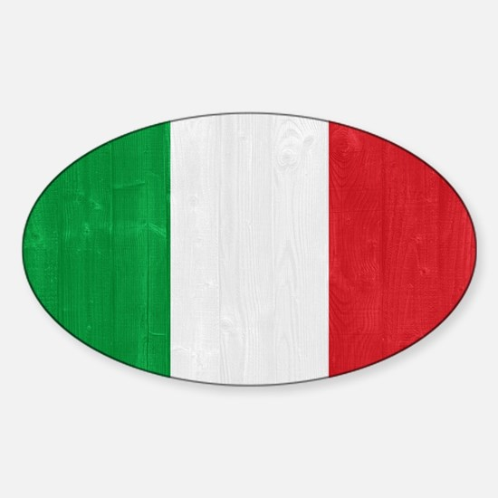 Italy flag Sticker (Oval)