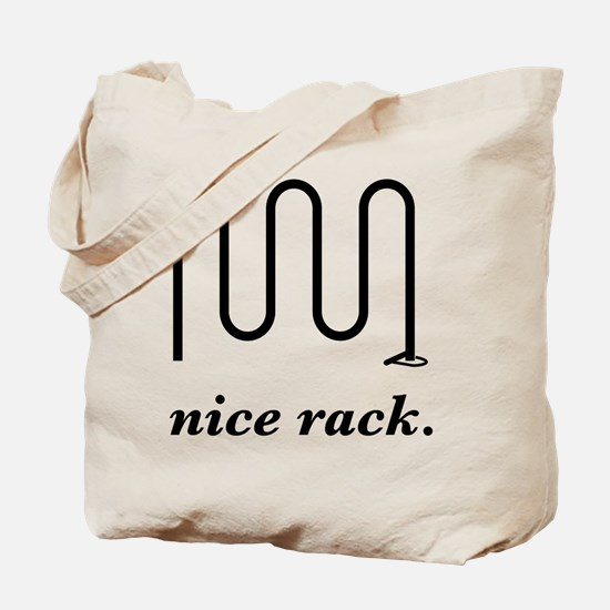 Nice Rack (dark) Tote Bag