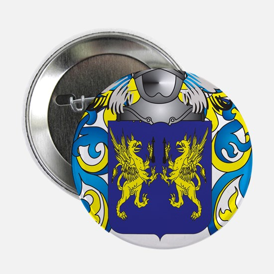 "Troy Family Crest (Coat of Arms) 2.25"" Button"