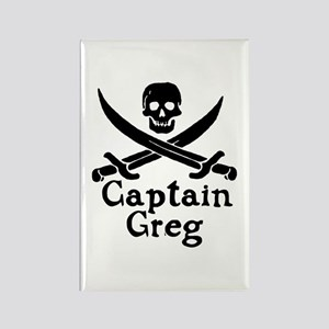 Captain Greg Rectangle Magnet