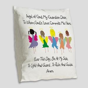 Childs Catholic Prayer Burlap Throw Pillow
