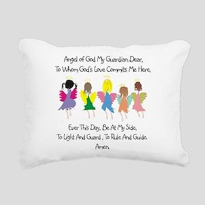 Childs Catholic Prayer Rectangular Canvas Pillow