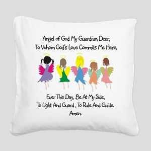 Childs Catholic Prayer Square Canvas Pillow