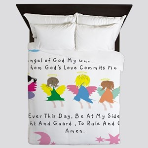 angel of God Twin WHITE Queen Duvet