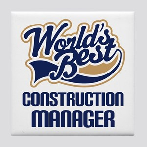 Construction Manager (Worlds Best) Tile Coaster