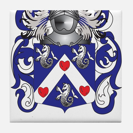 Tucker Family Crest (Coat of Arms) Tile Coaster