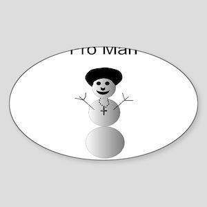 Fro Man Oval Sticker