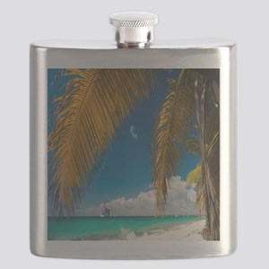 Palm trees cruise Catalina Island - Copy (2) Flask