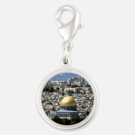 Palestine Silver Round Charm