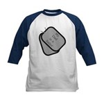 My Dad is a Sailor dog tag Kids Baseball Jersey