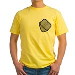 My Dad is a Sailor dog tag Yellow T-Shirt