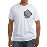 My Dad is a Sailor dog tag Fitted T-Shirt