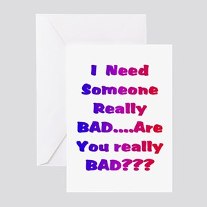 ARE U REALLY BAD?6 Greeting Cards (Pk of 10)