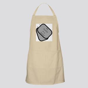 My Daddy is a Sailor dog tag BBQ Apron
