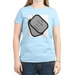 My Daddy is a Sailor dog tag Women's Pink T-Shirt