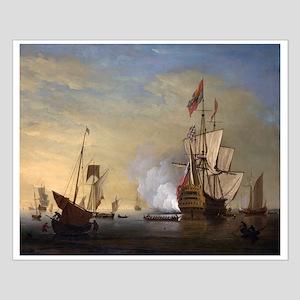 Tall Ship Firing A Gun Posters