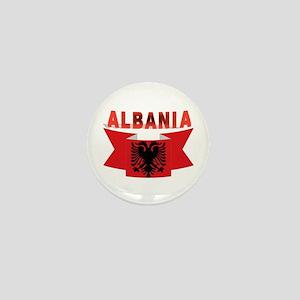 flag Albania Ribbon Mini Button