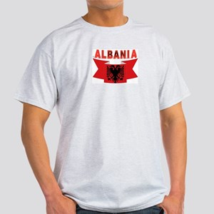 flag Albania Ribbon Light T-Shirt