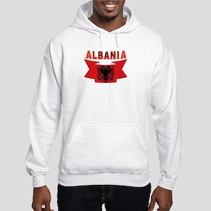 flag Albania Ribbon Hooded Sweatshirt