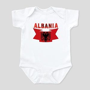 flag Albania Ribbon Infant Bodysuit